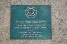 Placas conmemorativas de la inclusión en Lista del Patrimonio Mundial