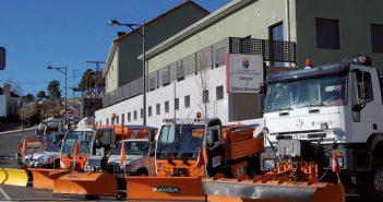 Flota de quitanieves del M.I. Ayuntamiento de San Lorenzo de El Escorial
