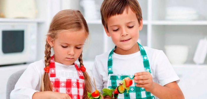 Niños comida saludable