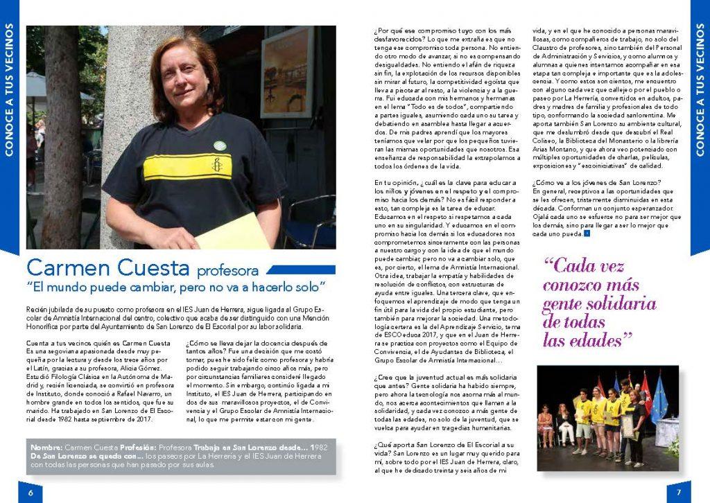 Entrevista a Carmen Cuesta