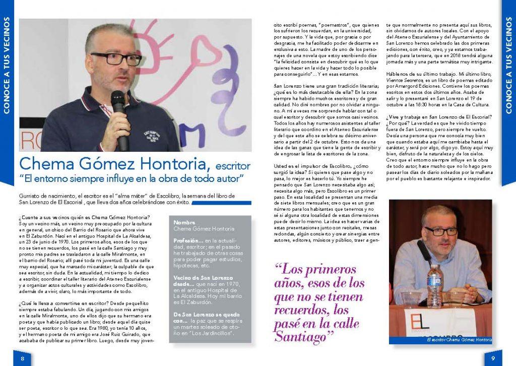 Entrevista a Chema Gómez Hontoria