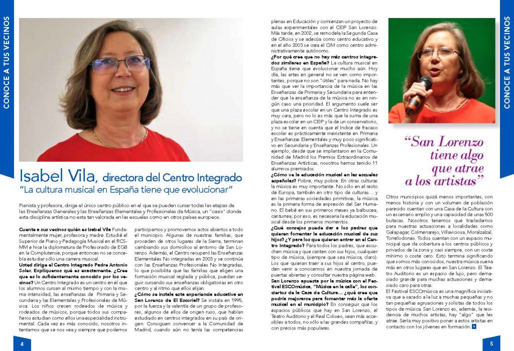 Entrevista a Isabel Vila