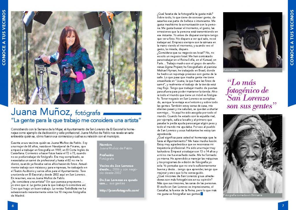 Entrevista a Juana Muñoz