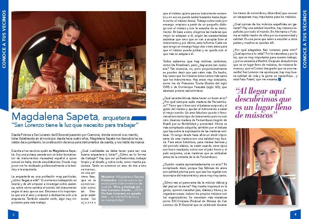 Entrevista a Magdalena Sapeta
