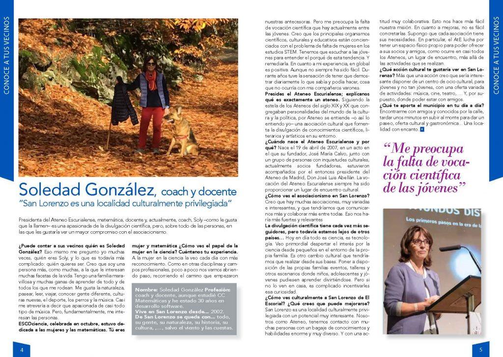 Entrevista a Soledad González