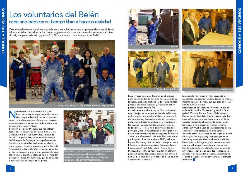 Voluntarios del Belén Monumental - Diciembre 2017