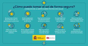 Consejos del Ministerio de Sanidad para protegerse del Sol