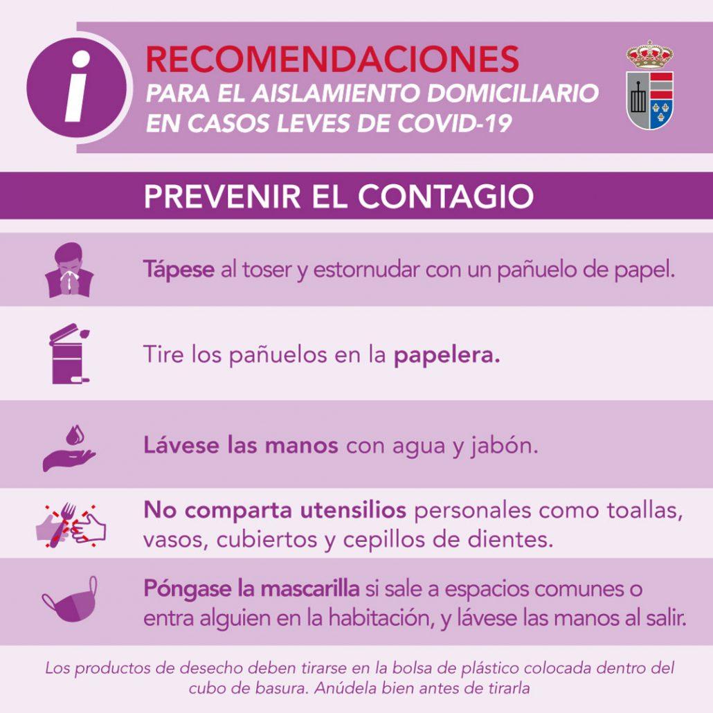 Recomendaciones para el aislamiento domiciliario en casos leves de Covid-19: Prevenir el contagio