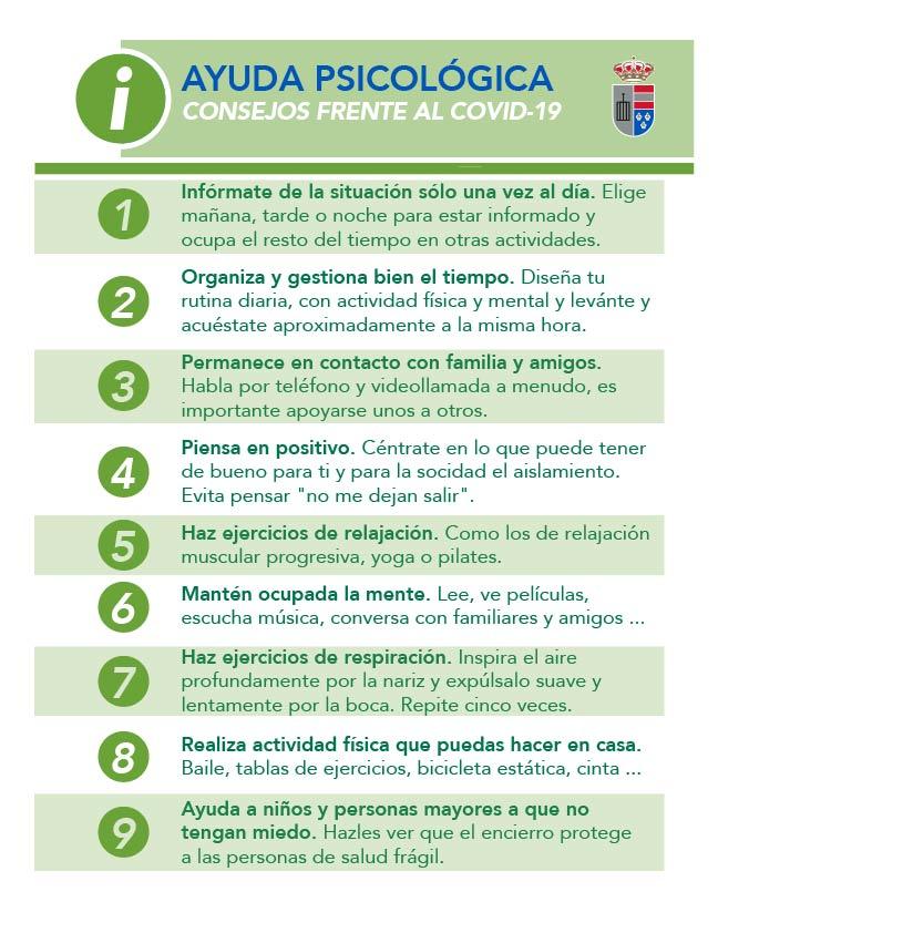 Consejos de ayuda psicológica