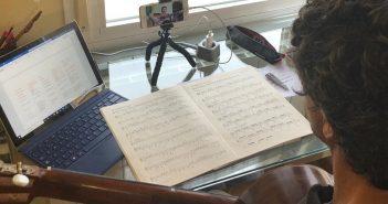 Clase online de la Escuela Municipal de Música