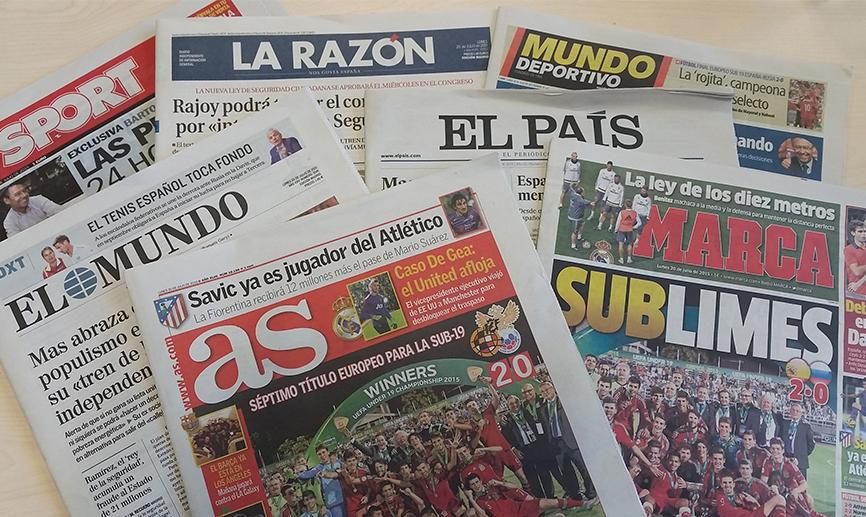 Portadas de periódicos