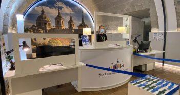 Oficina de Turismo con medidas de seguridad COVID-19