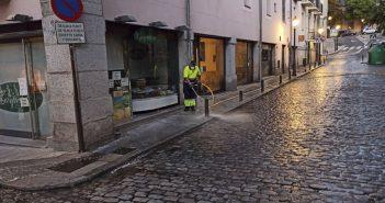 Limpieza y desinfección diversas calles del Rey y Reina Victoria