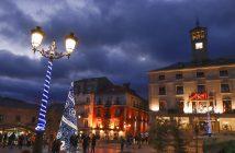 Plaza de la Constitución en Navidad