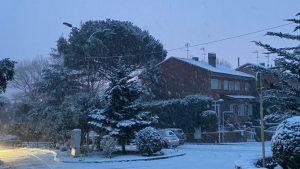 Alerta por nieve en San Lorenzo de El Escorial