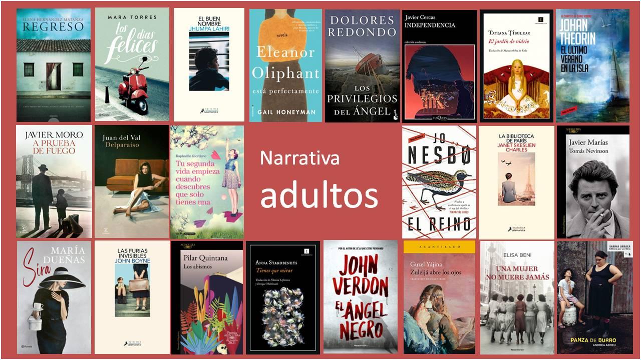 Novedades narrativa adultos mayo biblioteca Pedro Antonio de Alarcón