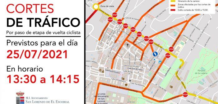 Cortes de tráfico por Vuelta Ciclista